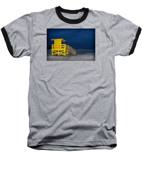 Goodnight Siesta Key Baseball T-Shirt by DJ Florek