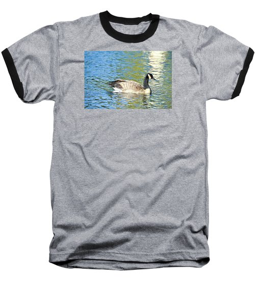 Baseball T-Shirt featuring the photograph Goose And Sun Reflections by David Lawson