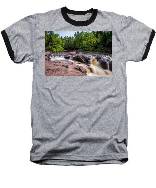 Goose Berry River Rapids Baseball T-Shirt by Paul Freidlund