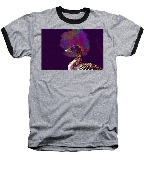 Baseball T-Shirt featuring the digital art Goose Bird Wild Goose  by PixBreak Art