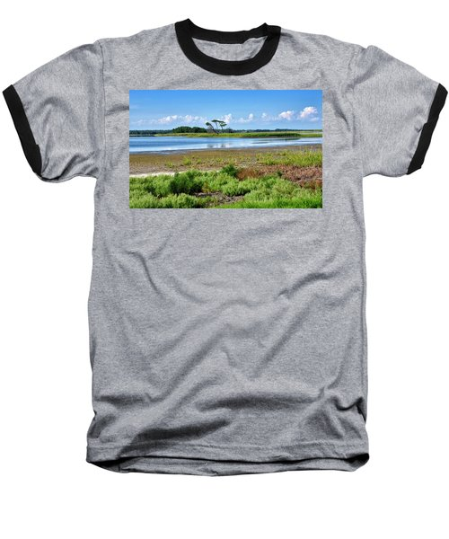 Baseball T-Shirt featuring the photograph Gordons Pond At Cape Henlopen State Park - Delaware by Brendan Reals