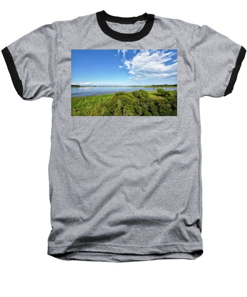 Baseball T-Shirt featuring the photograph Gordons Pond Overlook - Cape Henlopen State Park - Delaware by Brendan Reals