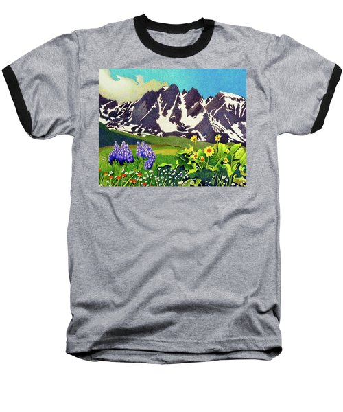 Gore Range Wildflowers Baseball T-Shirt