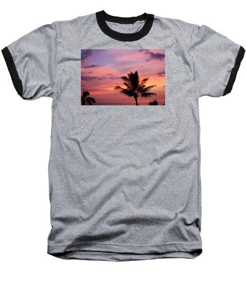 Gorgeous Hawaiian Sunset - 1 Baseball T-Shirt by Karen Nicholson