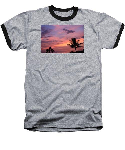 Gorgeous Hawaiian Sunset - 2 Baseball T-Shirt by Karen Nicholson