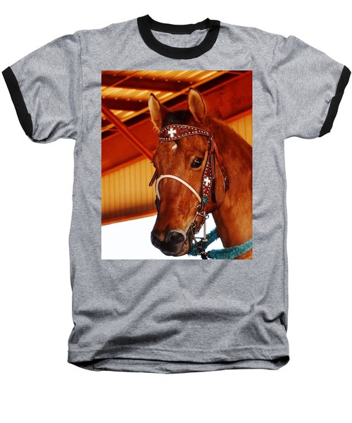 Gorgeous Horse And Bridle Baseball T-Shirt