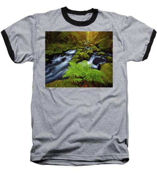 Baseball T-Shirt featuring the photograph Gorton Creek Fern by Darren White