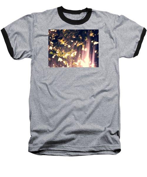 Baseball T-Shirt featuring the photograph Gossamer Glow by Megan Dirsa-DuBois
