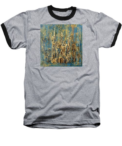Baseball T-Shirt featuring the painting Gothic Church  by Arturas Slapsys