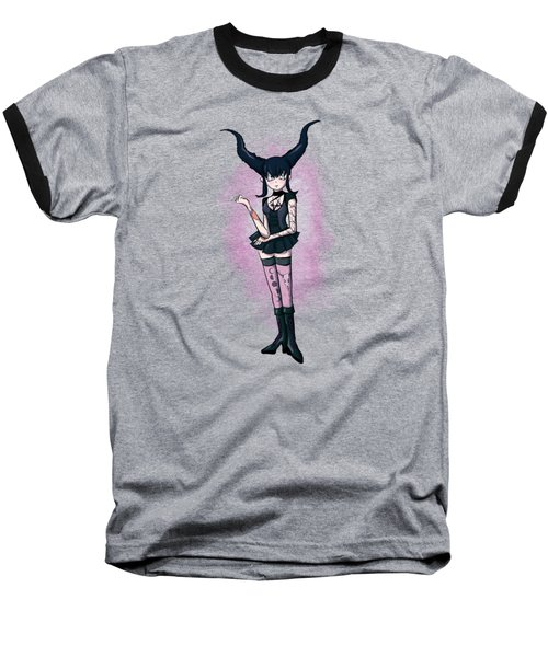 Gothic Moon Baseball T-Shirt