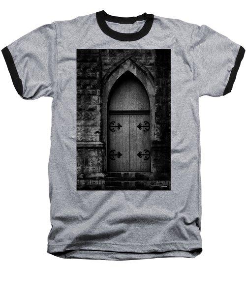Gothic Door Memphis Church Bw Baseball T-Shirt