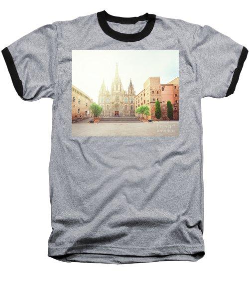 Gotic Cathedral  Of Barcelona Baseball T-Shirt