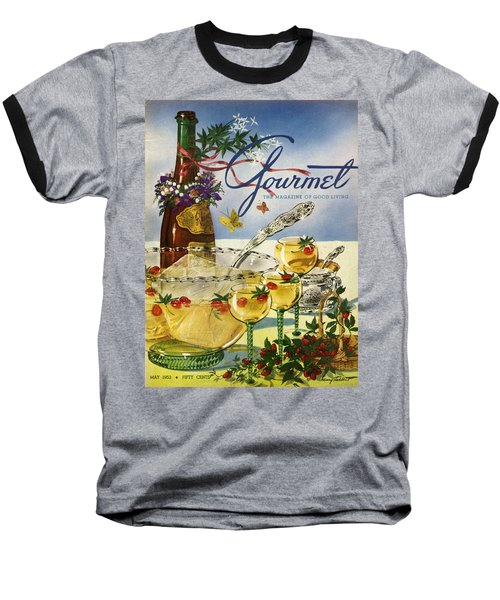 Gourmet Cover Featuring A Bowl And Glasses Baseball T-Shirt