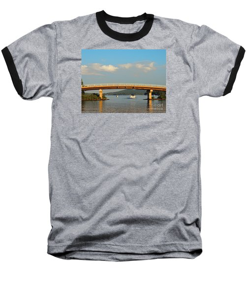 Baseball T-Shirt featuring the photograph Governor's Island Bridge by Mim White