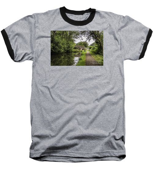 Goytre Wharf  Bridge Baseball T-Shirt by Steve Purnell