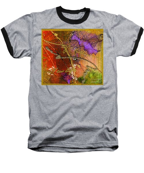 Baseball T-Shirt featuring the mixed media Grace by Angela L Walker