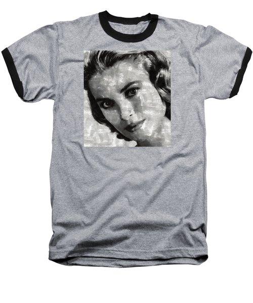 Grace Kelly Baseball T-Shirt by Mary Bassett