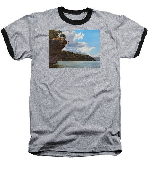 Graceful Cliff Dive Baseball T-Shirt