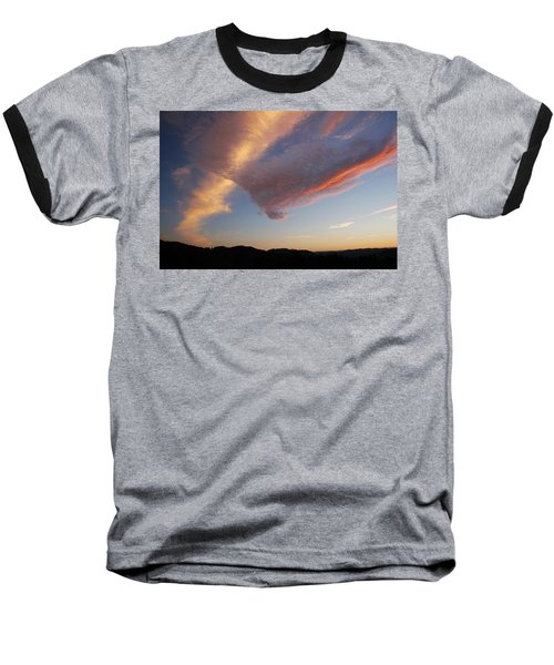Graceful Pink Clouds Baseball T-Shirt by Katie Wing Vigil