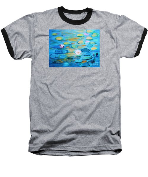 Graceful Pond From The Water Series Baseball T-Shirt by Donna Dixon