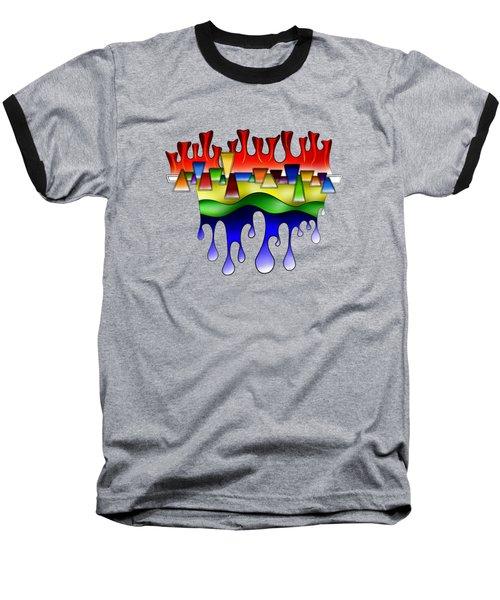Grafenonci V4 - Digital Abstract Baseball T-Shirt