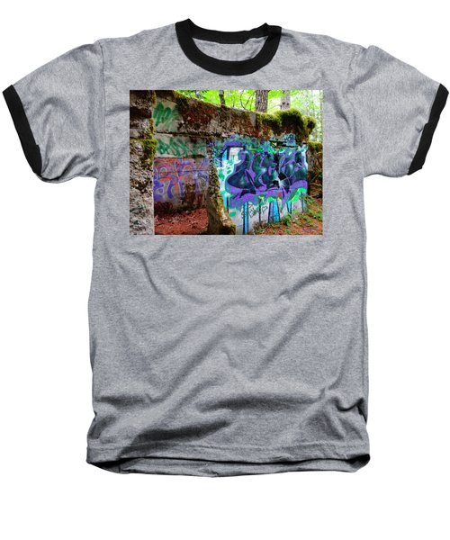 Graffiti Illusion Baseball T-Shirt
