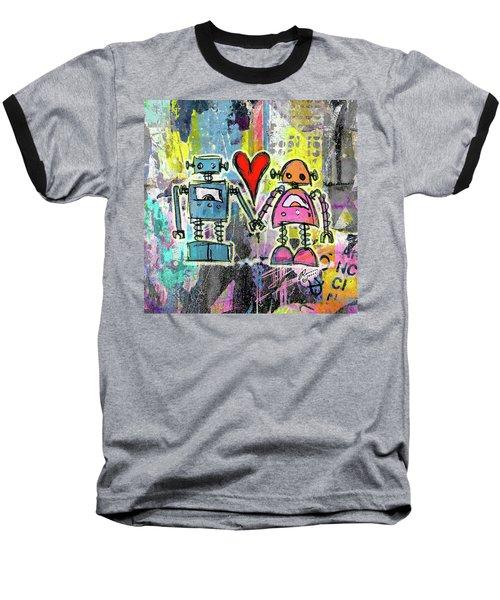 Graffiti Pop Robot Love Baseball T-Shirt