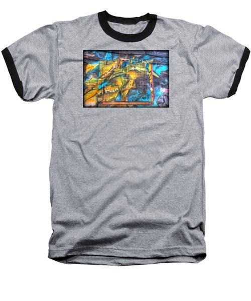 Grafiti Window Baseball T-Shirt by Michaela Preston