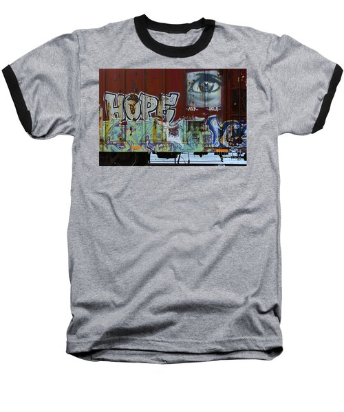Grafitti Art Riding The Rails 6 Baseball T-Shirt
