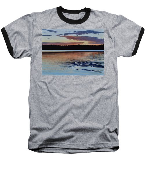 Baseball T-Shirt featuring the painting Graham Lake by Kenneth M Kirsch