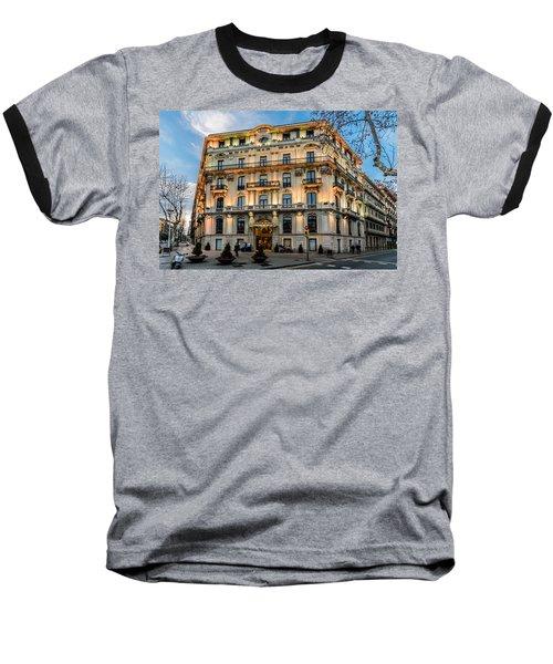 Gran Hotel Havana Baseball T-Shirt by Randy Scherkenbach