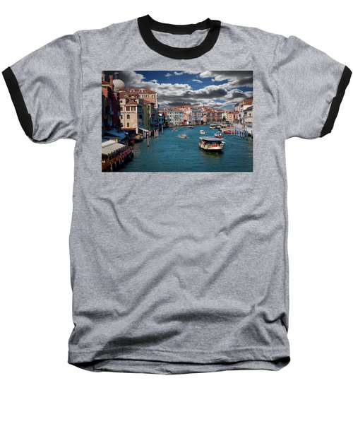 Baseball T-Shirt featuring the photograph Grand Canal Daylight by Harry Spitz