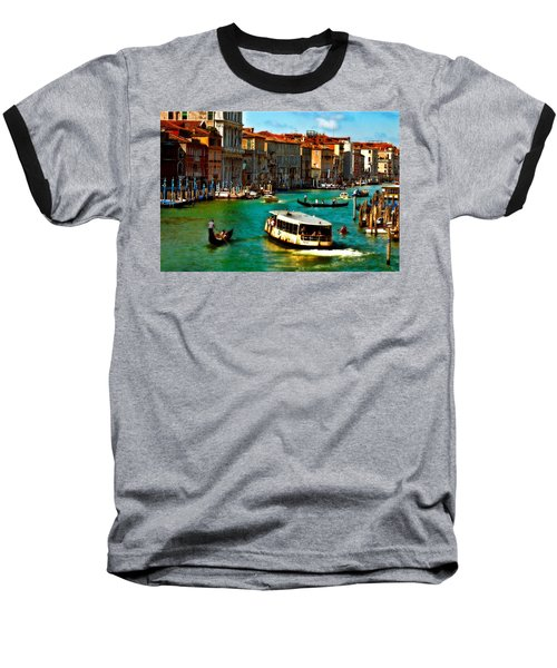 Grand Canal Daytime Baseball T-Shirt
