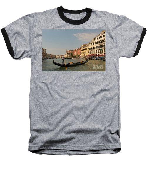 Grand Canal Gondola Baseball T-Shirt by Loriannah Hespe