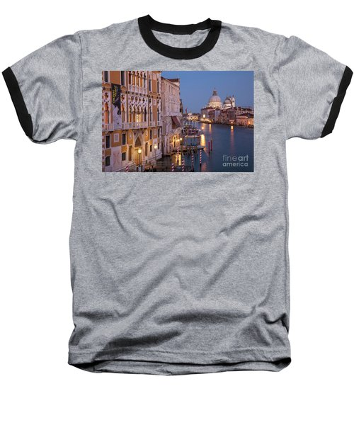 Baseball T-Shirt featuring the photograph Grand Canal Twilight by Brian Jannsen