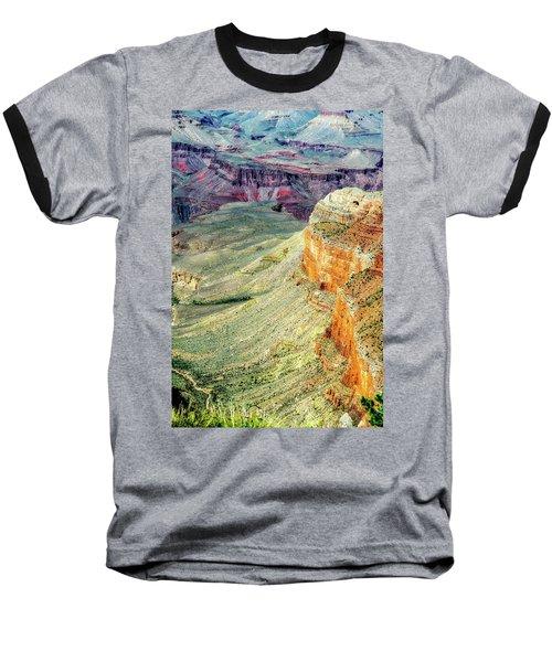 Grand Canyon Abstract Baseball T-Shirt by Robert FERD Frank