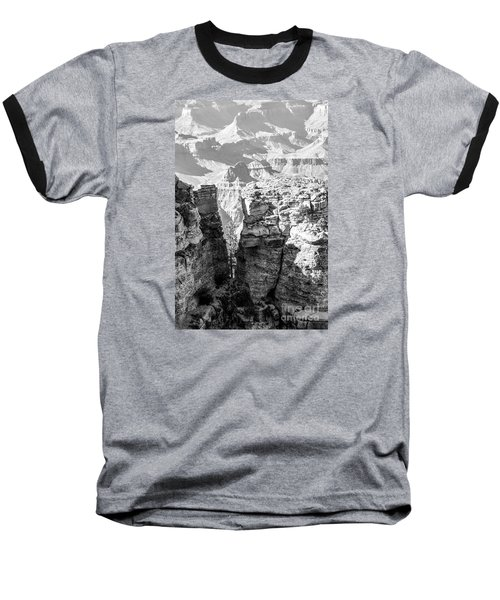 Baseball T-Shirt featuring the photograph Grand Canyon Bw Impression by Juergen Klust