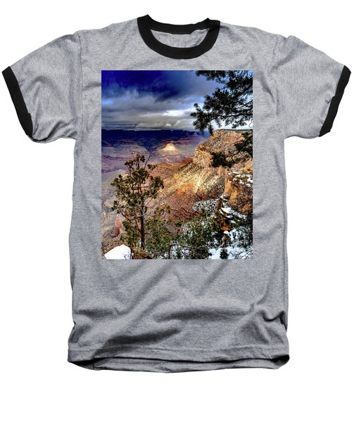Grand Canyon In Winter Baseball T-Shirt