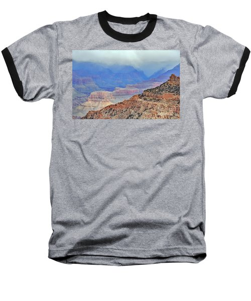 Grand Canyon Levels Baseball T-Shirt by Debby Pueschel