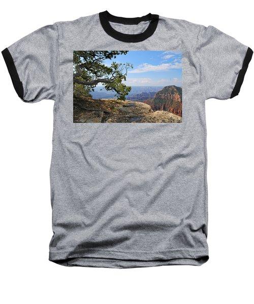 Grand Canyon North Rim Craggy Cliffs Baseball T-Shirt