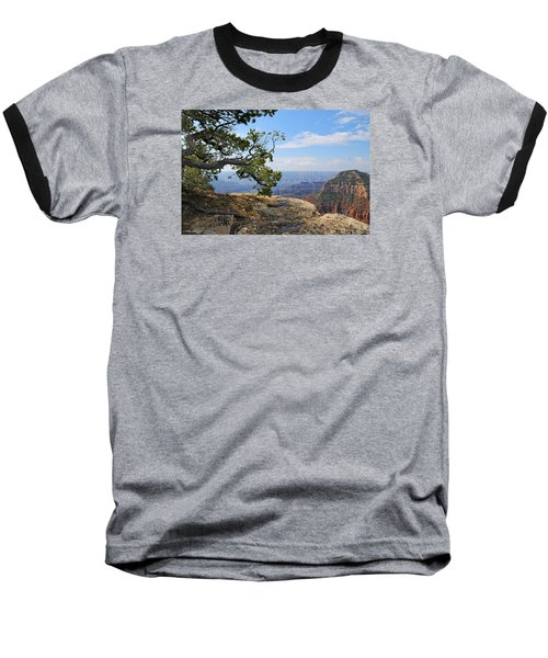 Grand Canyon North Rim Craggy Cliffs Baseball T-Shirt