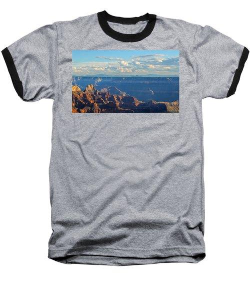 Grand Canyon North Rim Sunset San Francisco Peaks Baseball T-Shirt