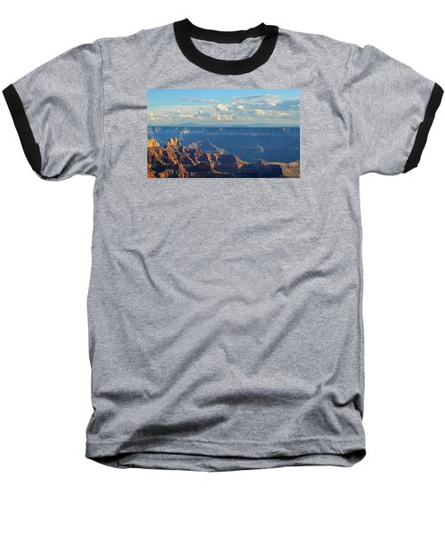 Grand Canyon North Rim Sunset San Francisco Peaks Baseball T-Shirt