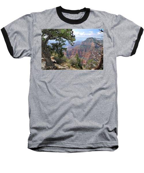 Grand Canyon North Rim - Through The Trees Baseball T-Shirt
