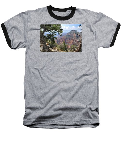 Grand Canyon North Rim - Through The Trees Baseball T-Shirt