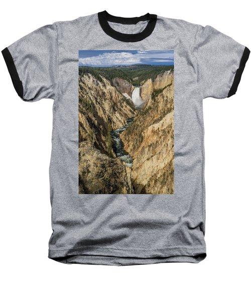 Grand Canyon Of The Yellowstone And Yellowstone Falls Baseball T-Shirt