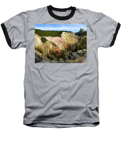 Grand Canyon Of The Yellowstone Baseball T-Shirt