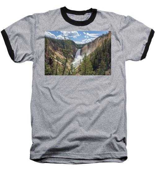 Grand Canyon Of Yellowstone Baseball T-Shirt by Alpha Wanderlust