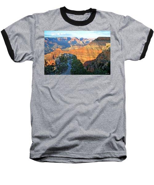 Grand Canyon South Rim At Sunset Baseball T-Shirt
