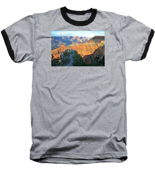 Grand Canyon South Rim At Sunset Baseball T-Shirt